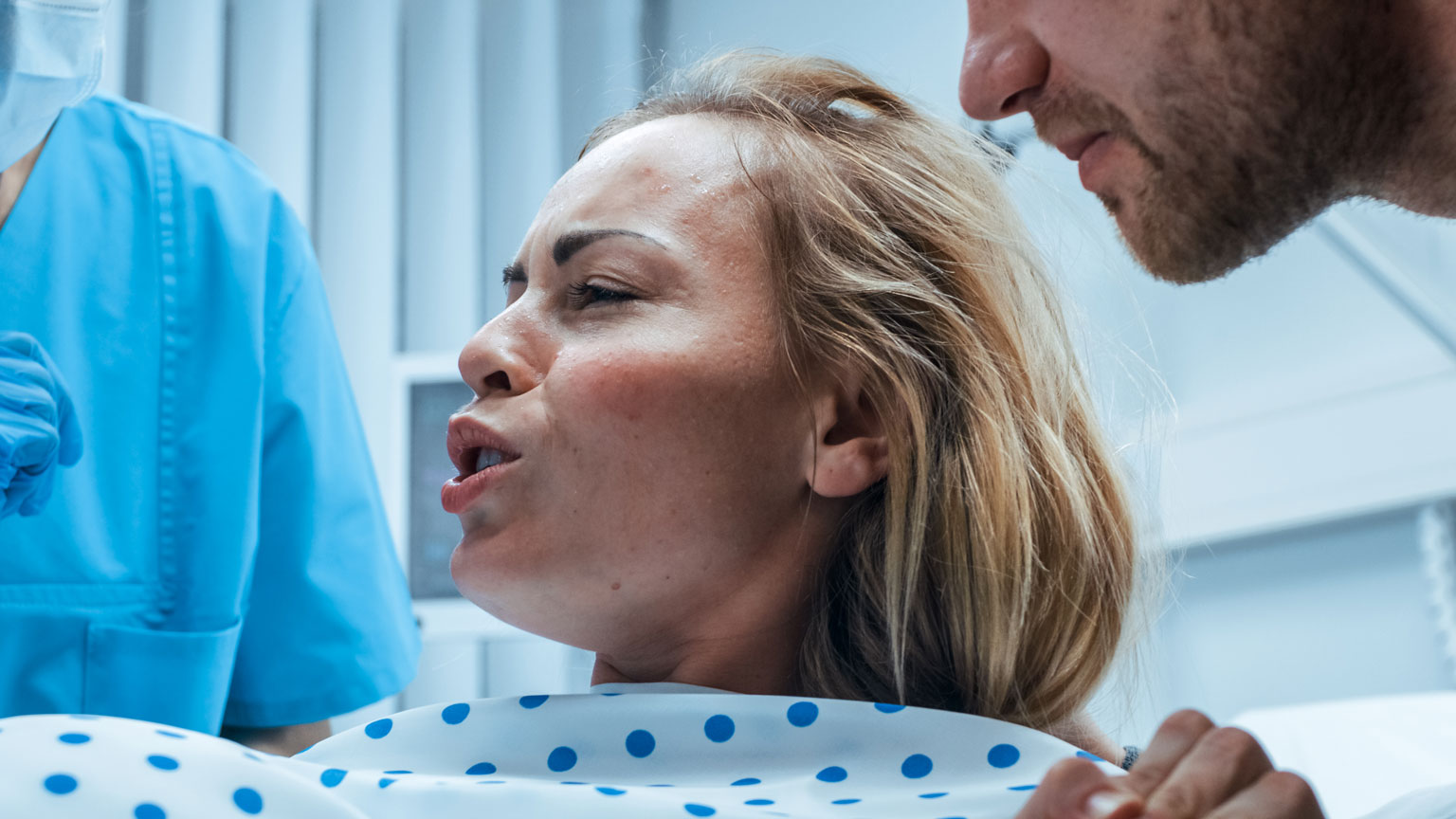 Woman during labor
