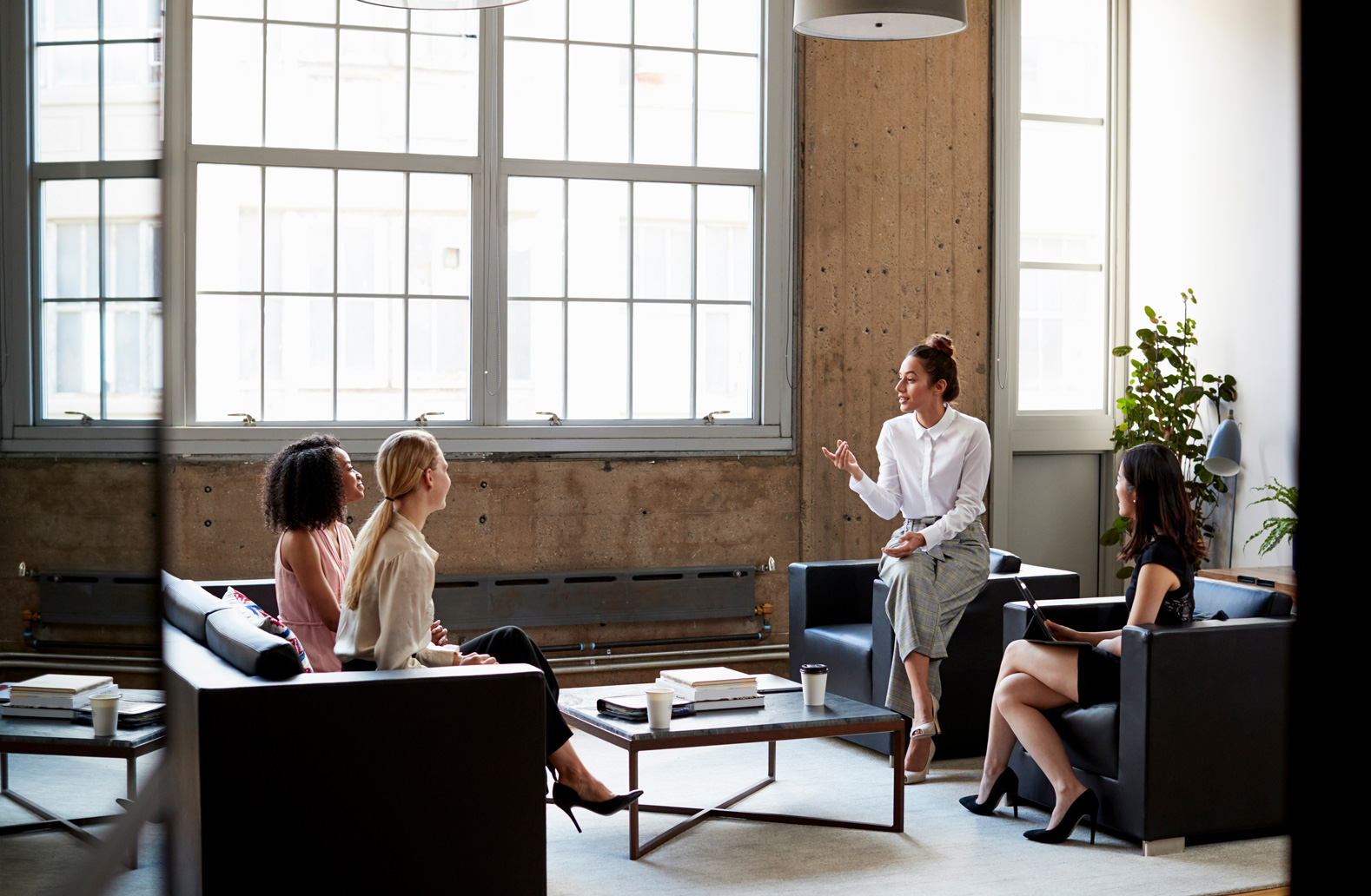 A group of businesswomen discussing ideas.